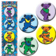 Grateful Dead Dancing Bears set of 4 round Pin Badges (cv)